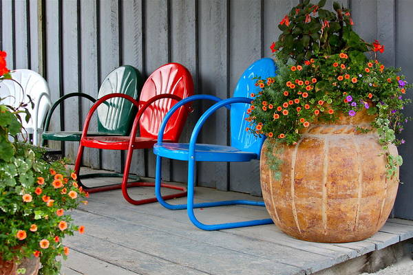 Chair Poster featuring the photograph Outdoor Living by Karon Melillo DeVega
