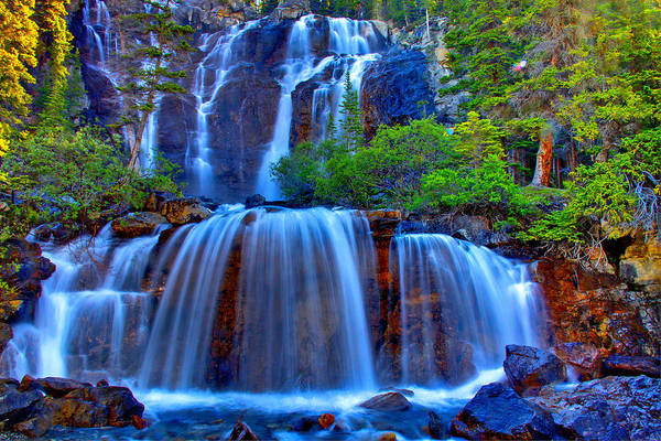 Waterfall Poster featuring the photograph Paradise Falls by Scott Mahon