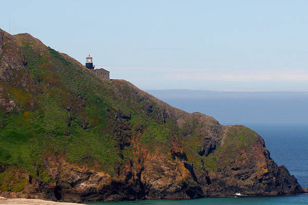 Point Sur Lighthouse Poster featuring the photograph Point Sur Lighthouse Ca by Christine Till