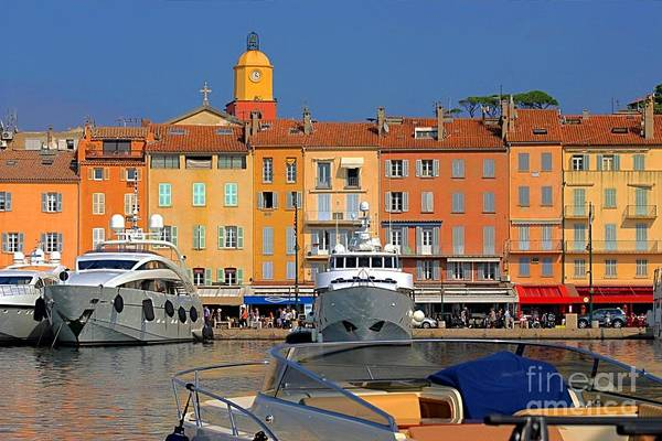 Architecture Poster featuring the photograph Port Of Saint-tropez In France by Giancarlo Liguori