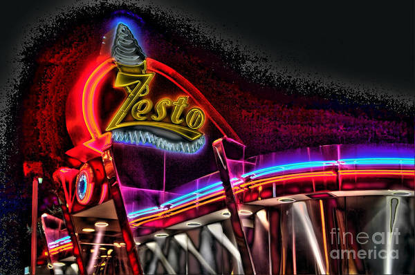 Zestos Poster featuring the photograph Psychedelic Zestos by Corky Willis Atlanta Photography
