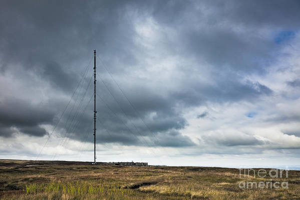 Antenna Poster featuring the photograph Radio Tower In Field by Jon Boyes