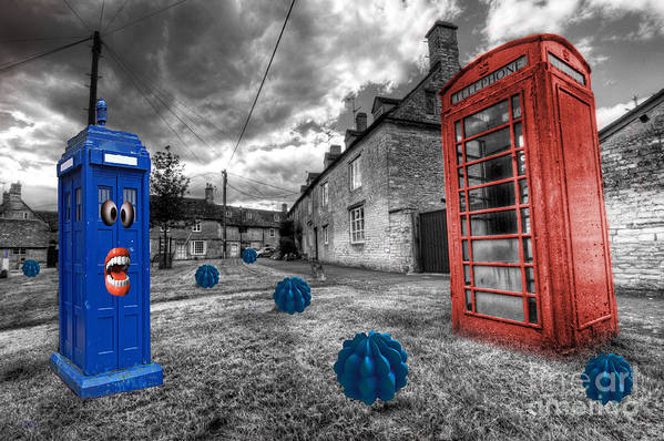 Telephone Poster featuring the photograph Revenge Of The Killer Phone Box by Rob Hawkins