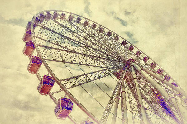 Ferris Wheel Poster featuring the photograph Riding High by Kathy Jennings