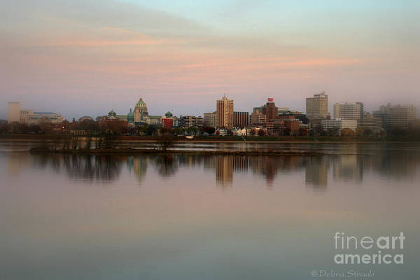 Riverfront Poster featuring the photograph Riverfront At Dusk by Debra Straub
