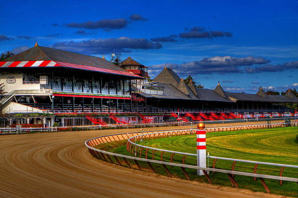 Saratoga Poster featuring the photograph Saratoga Race Track by Don Nieman
