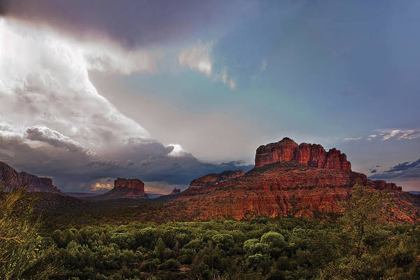 Sedona Poster featuring the photograph Sedona Drama by Dave Dilli