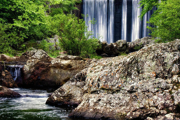 Arkansas Poster featuring the photograph Shady Lake Falls by Lana Trussell