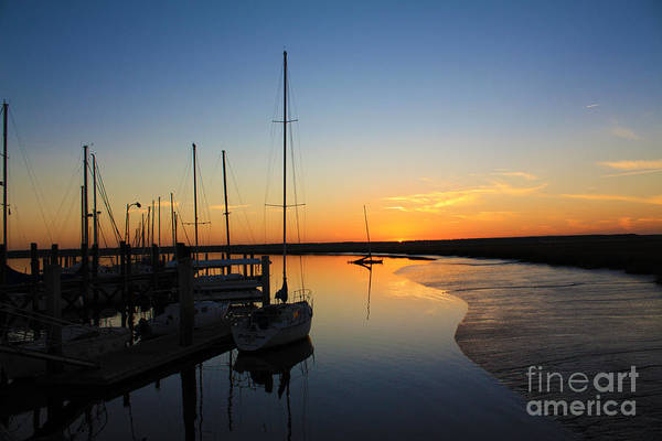 Sunset Poster featuring the photograph St. Mary's Sunset by M Glisson