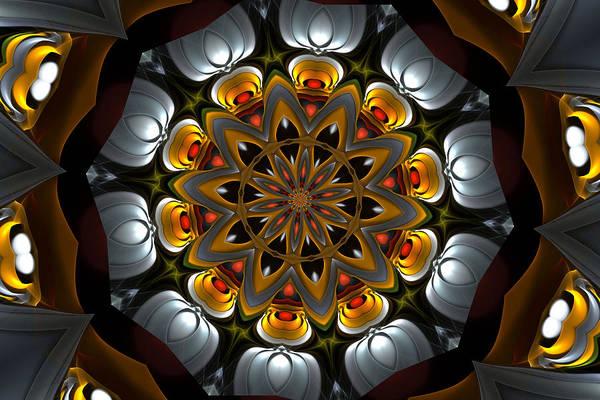 Optical Art Poster featuring the digital art Ten Minute Art 3 by David Lane