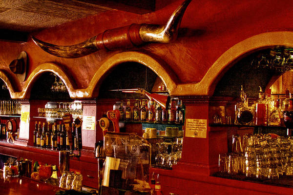 Cowboy Club Poster featuring the photograph The Cowboy Club Bar In Sedona Arizona by David Patterson