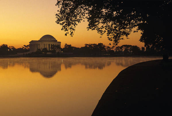 Jefferson Memorial Poster featuring the photograph Tidal Basin And Jefferson Memorial by Kenneth Garrett