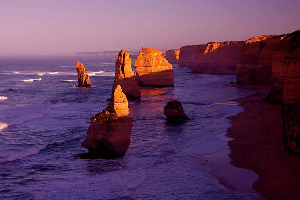 Twelve Apostles Poster featuring the photograph Twelve Apostle Dawn by Mike Dawson