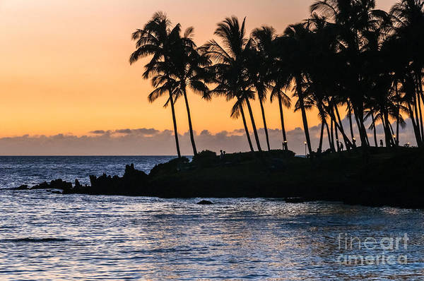 Waikoloa Poster featuring the photograph Twilight At Waikoloa by Al Andersen