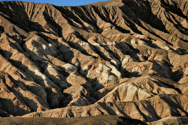 Death Valley National Park Poster featuring the photograph Unearthly World - Death Valley's Badlands by Christine Till
