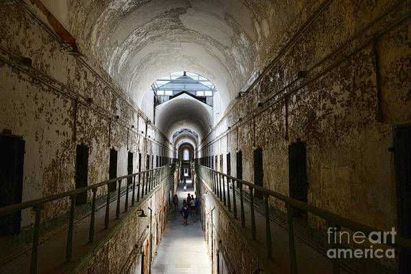 Eastern State Penitentiary Poster featuring the photograph Upper Cell Blocks by Paul Ward