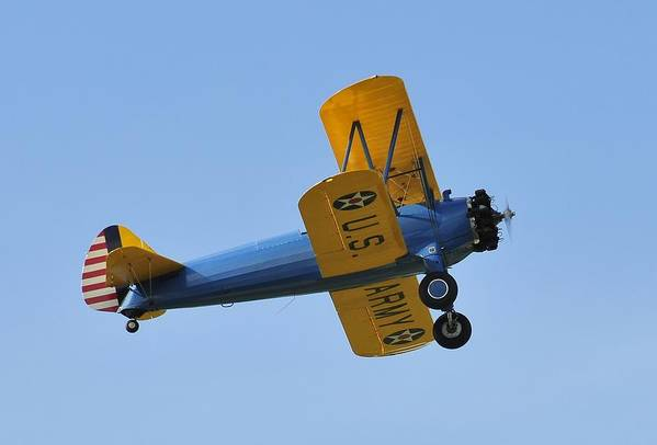 Biplane Poster featuring the photograph U.s.army Biplane by David Lee Thompson