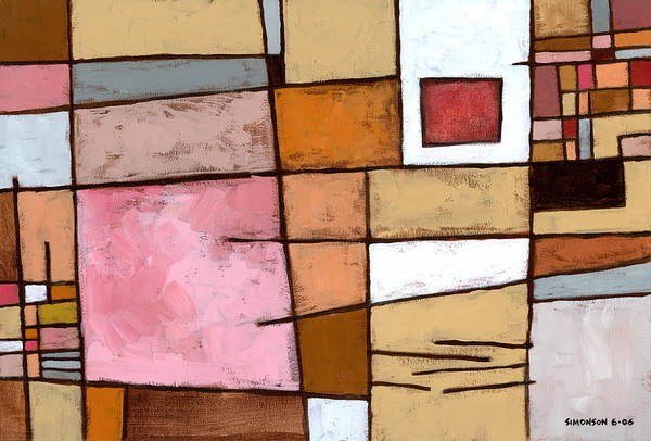 Abstract Poster featuring the painting White Chocolate by Douglas Simonson