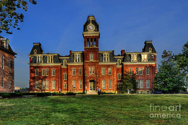 Woodburn Hall Poster featuring the photograph Woodburn Hall In Morning by Dan Friend