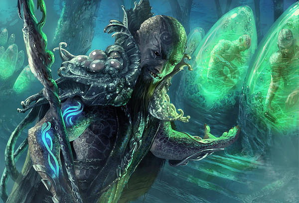 Magic The Gathering Poster featuring the digital art Biovisionary by Ryan Barger