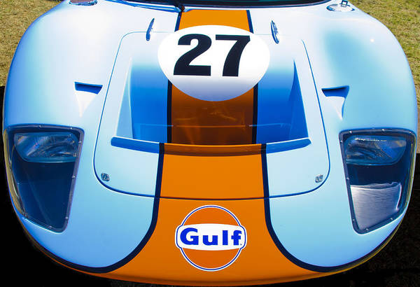 1966 Ford Gt40 Poster featuring the photograph Gulf Ford Gt40 by motography aka Phil Clark