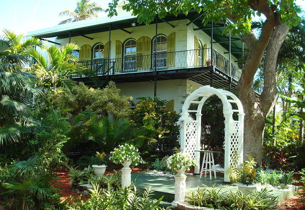 Ernest Hemingway Poster featuring the photograph Hemingway House by Kay Gilley