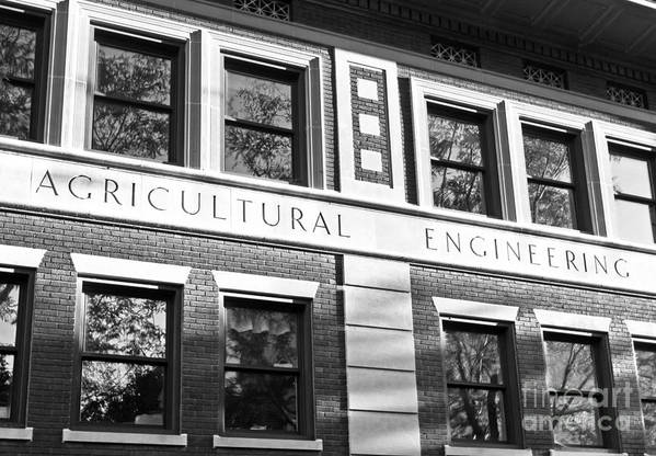 Big 10 Poster featuring the photograph Purdue University Agricultural Engineering by University Icons