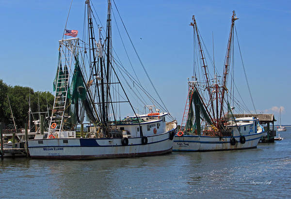 Shrimper Poster featuring the photograph Shem Creek Shrimpers by Suzanne Gaff