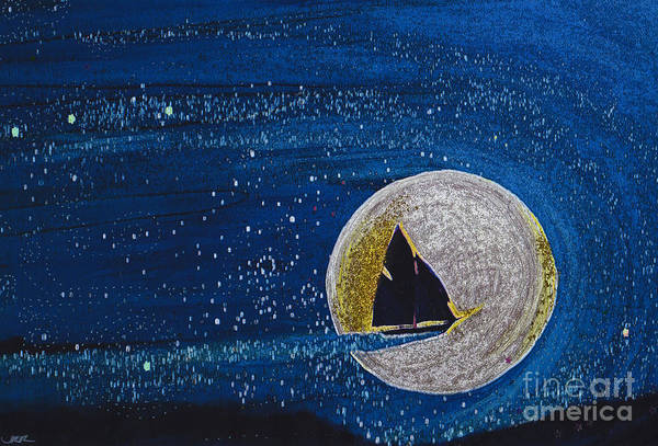 First Star Art Poster featuring the painting Star Sailing By Jrr by First Star Art