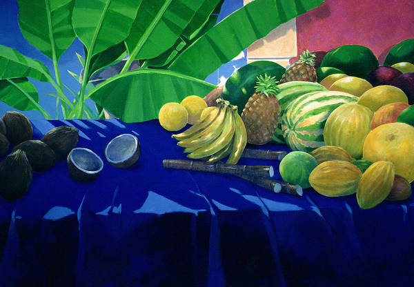 Still Life Poster featuring the painting Tropical Fruit by Lincoln Seligman