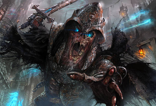 Magic The Gathering Poster featuring the digital art Wight Of Precinct Six by Ryan Barger