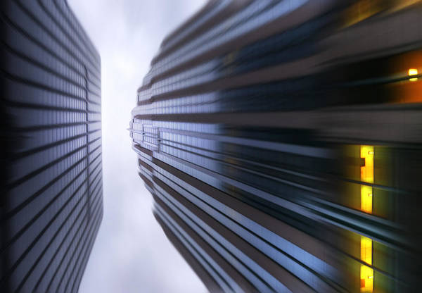 Active Poster featuring the photograph Buildings Abstract by Svetlana Sewell