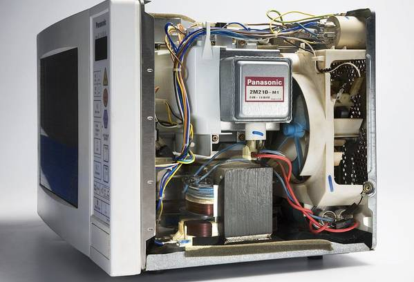 Equipment Poster featuring the photograph Microwave Oven With The Casing Removed by Sheila Terry