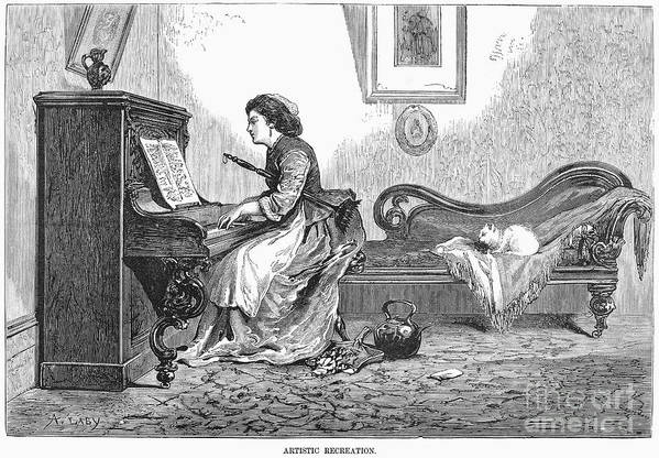 1876 Poster featuring the photograph Pianist, 1876 by Granger