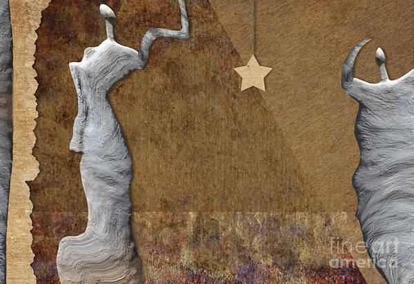 Woman Poster featuring the digital art Stone Men 30-33 - Les Femmes by Variance Collections