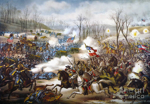 1862 Poster featuring the photograph The Battle Of Pea Ridge, by Granger