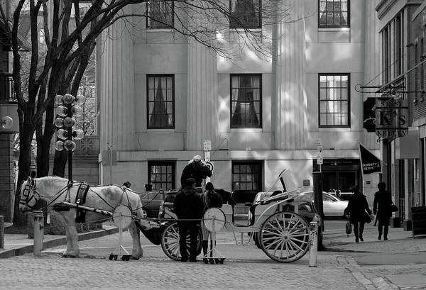 Quincy Market Poster featuring the photograph Your Carriage Awaits by Kristine Patti