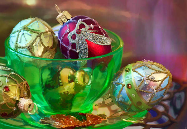 Christmas Poster featuring the photograph Christmas Ornaments by June Marie Sobrito