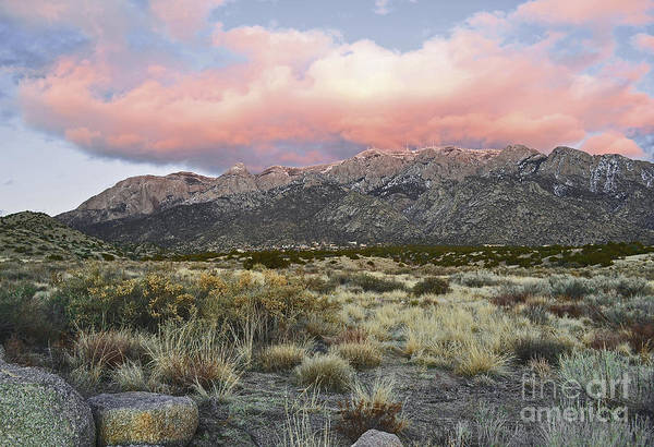 Albuquerque New Mexico Poster featuring the photograph Fairytale Clouds by Andrea Hazel Ihlefeld