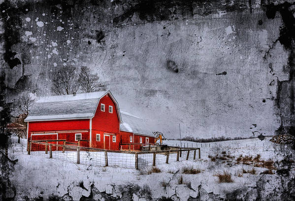Barn Poster featuring the photograph Rural Textures by Evelina Kremsdorf