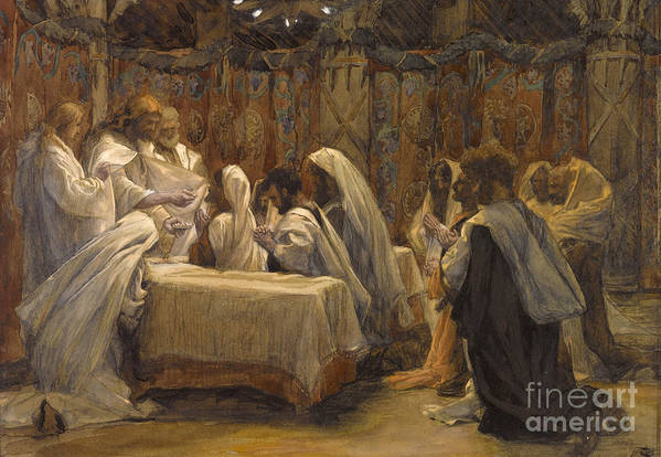 Tissot Poster featuring the painting The Communion Of The Apostles by Tissot