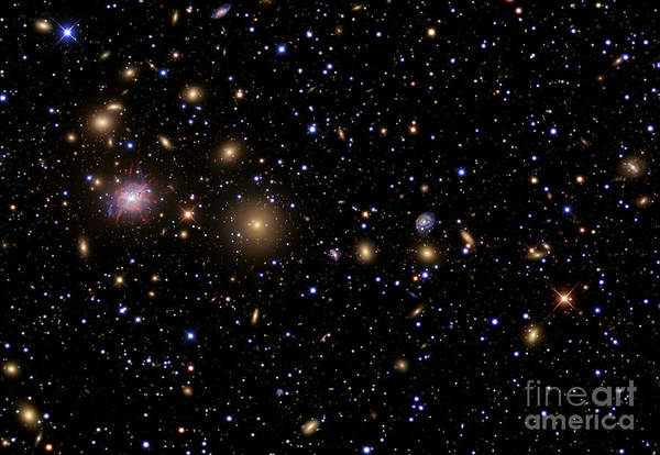 Celestial Poster featuring the photograph The Perseus Galaxy Cluster by R Jay GaBany