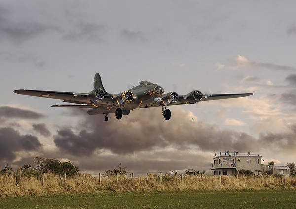 Aircraft Poster featuring the photograph B17- 'airborne' by Pat Speirs