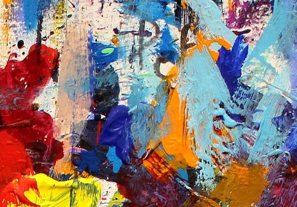 Abstract Poster featuring the painting Abstract 10 by John Nolan