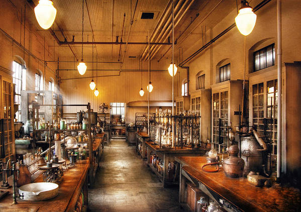 Savad Poster featuring the photograph Chemist - The Chem Lab by Mike Savad