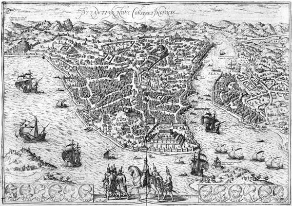 1576 Poster featuring the photograph Constantinople, 1576 by Granger