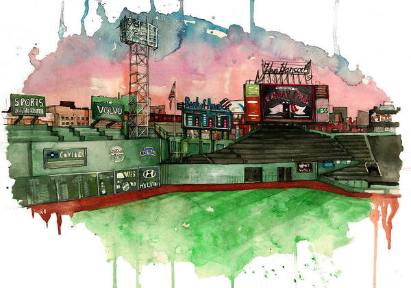 Fenway Park Poster featuring the painting Fenway Park by Michael Pattison