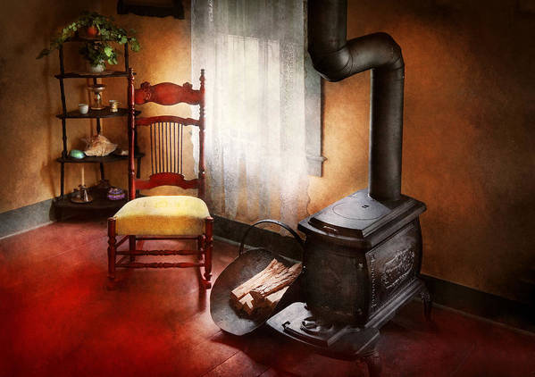 Savad Poster featuring the photograph Furniture - Chair - Where She Spent Most Of Her Days by Mike Savad
