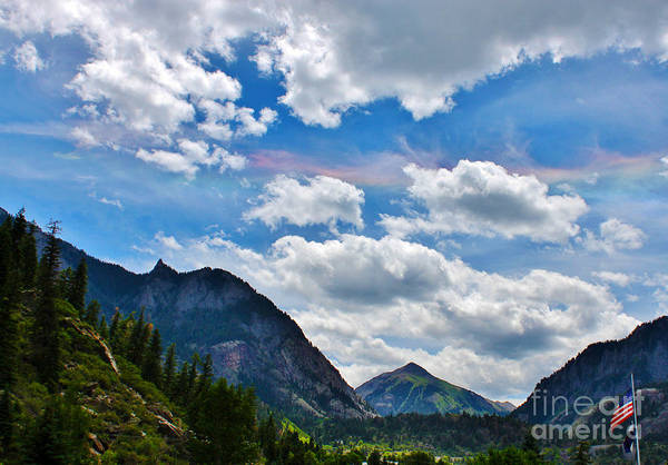 Season Poster featuring the photograph Iridescent Clouds Above Ouray Colorado by Janice Rae Pariza