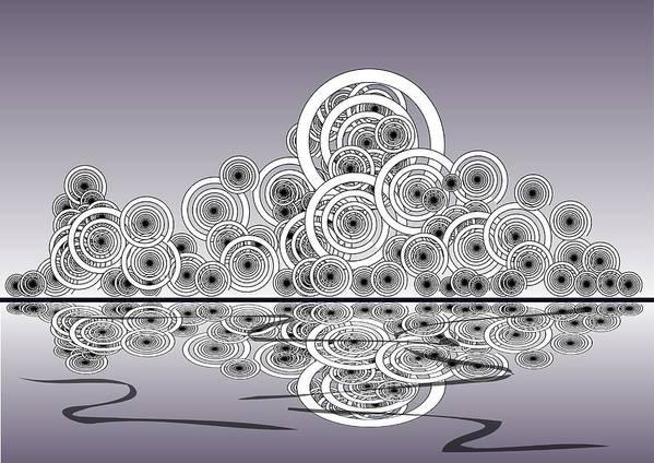 Reflection Poster featuring the digital art Mechanical Spirits by Anastasiya Malakhova